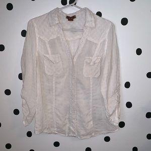 🌈5/$25🌈 dm bm white thin Button Down Shirt